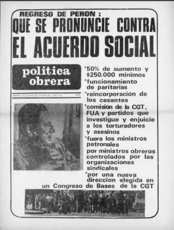política perón